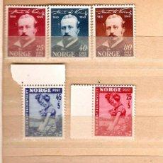 Sellos: NORUEGA,1937,1949,50,51.CAT.YT.311/313;320/321; 332/334; 183/186. NUEVOS, GOMA ORIGINAL,CON Y SIN FI. Lote 186735106