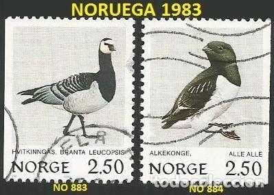NORUEGA 1983 - NO 883 Y 884 - 2 SELLOS USADOS - TEMA AVES (Sellos - Extranjero - Europa - Noruega)
