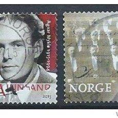 Sellos: SELLOS USADOS DE NORUEGA, YT 1830/ 31. Lote 194370271