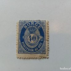 Sellos: 1921 -1922 CUERNO POSTAL. SIN ADORNOS EN LOS EXTREMOS DE LAS LETRAS DE LA PALABRA NORGE. Lote 195625992