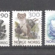 Sellos: NORWAY 1988-1991 ANIMALS BIRDS MNH/USED M.119. Lote 198274348