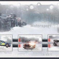 Sellos: NORUEGA 2007 - NORWAY - AUTOMOVILISMO - YVERT Nº 1542/1544** - BLOCK 34**. Lote 198356618