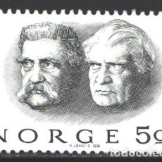 Sellos: NORUEGA, 1981 YVERT Nº 805 /**/, PREMIO NOBEL DE LA PAZ - CHRISTIAN LOUIS LANGE, HJALMAR BR. Lote 199190191