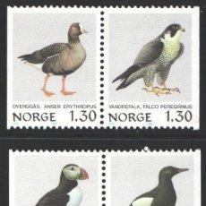 Sellos: NORUEGA, 1981 YVERT Nº 783 / 786 /**/, AVES. Lote 199190296