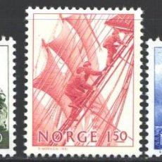 Sellos: NORUEGA, 1981 YVERT Nº 794 / 796 /**/, BARCOS. Lote 199190518