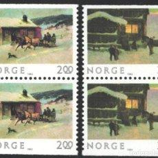 Timbres: NORUEGA, 1983 YVERT Nº 850A / 851A /**/, NAVIDAD. Lote 199196596