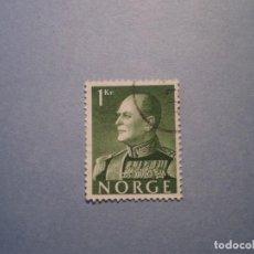 Sellos: NORUEGA REY OLAV 1958 YVERT 386 USADO. Lote 199851435