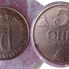 Sellos: NORUEGA - 5 ØRE - AÑO 1932 - REY HAAKON VII -BRONCE-. Lote 204670057