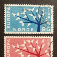 Sellos: NORUEGA, EUROPA CEPT 1962 COMPLETA Y USADA (FOTOGRAFÍA REAL). Lote 205566552