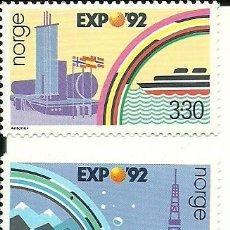 Sellos: NORUEGA - EXPO 92 DE SEVILLA EN ESPAÑA , IVERT 1094/95. Lote 210451561