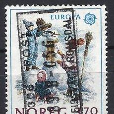 Timbres: NORUEGA 1989 - EUROPA, JUEGOS INFANTILES - SELLO USADO. Lote 213651131