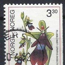 Timbres: NORUEGA 1992 - FLORA, ORQUÍDEAS, ORQUÍDEA MOSCA - SELLO USADO. Lote 213652278