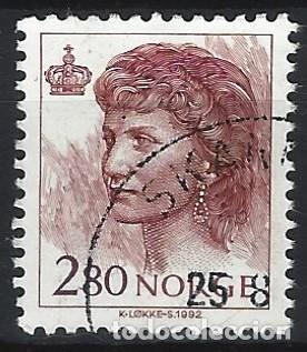 NORUEGA 1992 - REINA SONJA - SELLO USADO (Sellos - Extranjero - Europa - Noruega)