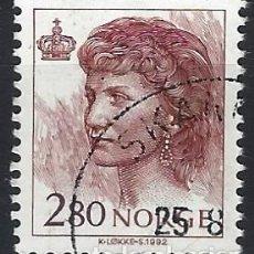 Sellos: NORUEGA 1992 - REINA SONJA - SELLO USADO. Lote 213652571