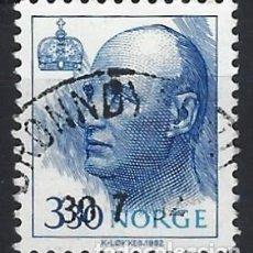 Sellos: NORUEGA 1992 - REY HARALD V - SELLO USADO. Lote 213652615