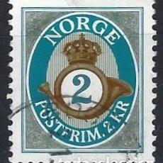 Sellos: NORUEGA 2001 - CUERNO POSTAL, 2 CORONAS - SELLO USADO. Lote 213654802
