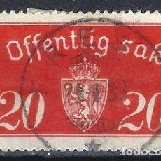 Sellos: NORUEGA 1933-34 - SELLO OFICIAL - ESCUDO DE ARMAS - SELLO USADO. Lote 213690451