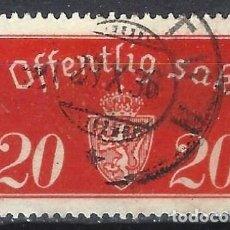 Sellos: NORUEGA 1933-34 - SELLO OFICIAL - ESCUDO DE ARMAS - SELLO USADO. Lote 213690476
