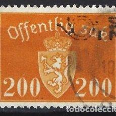 Sellos: NORUEGA 1946-47 - SELLO OFICIAL - ESCUDO DE ARMAS, 200 ØRE - SELLO USADO. Lote 213697508