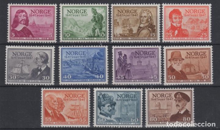1947 NORUEGA NORWAY NORGE ANIVERSARIO SERVICIO POSTAL MNH VALOR CATALOGO 80€ (Sellos - Extranjero - Europa - Noruega)