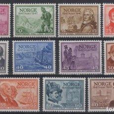 Sellos: 1947 NORUEGA NORWAY NORGE ANIVERSARIO SERVICIO POSTAL MNH VALOR CATALOGO 80€. Lote 213817725