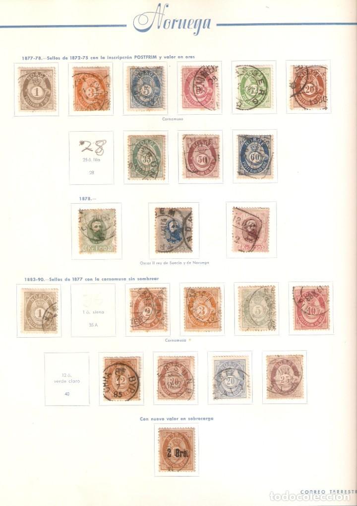 Sellos: NORUEGA. COLECCIÓN AÑOS 1855 A 1980. USADO. valor con catálogo del 2001.. 4140€ - Foto 2 - 215760703