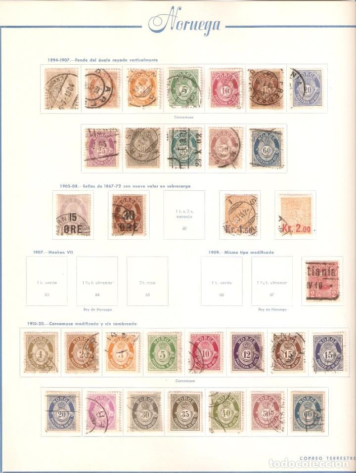 Sellos: NORUEGA. COLECCIÓN AÑOS 1855 A 1980. USADO. valor con catálogo del 2001.. 4140€ - Foto 3 - 215760703