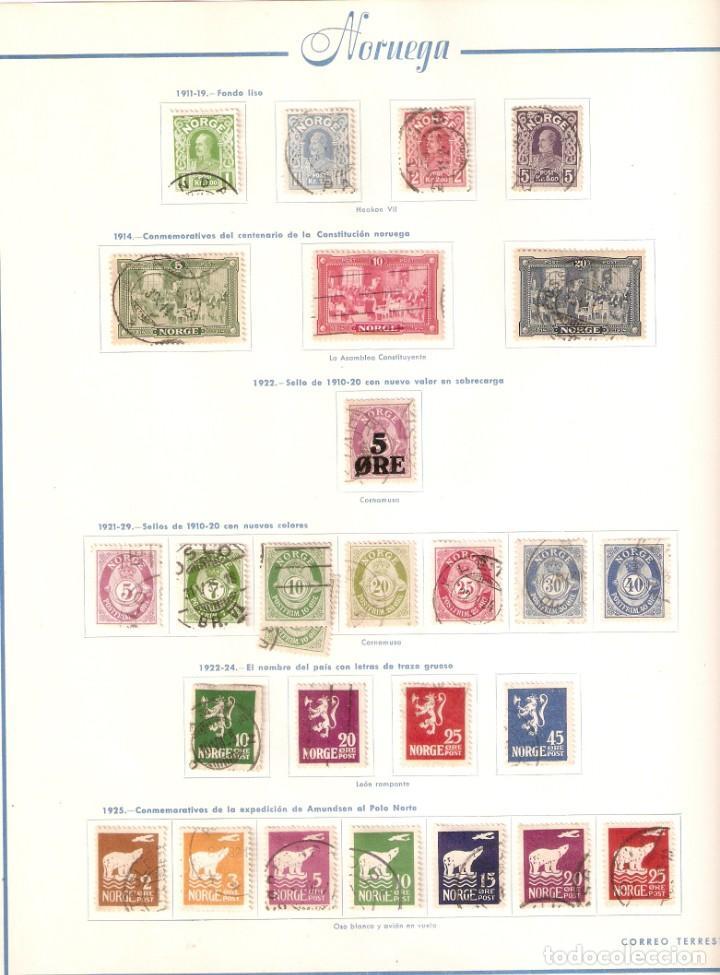 Sellos: NORUEGA. COLECCIÓN AÑOS 1855 A 1980. USADO. valor con catálogo del 2001.. 4140€ - Foto 4 - 215760703