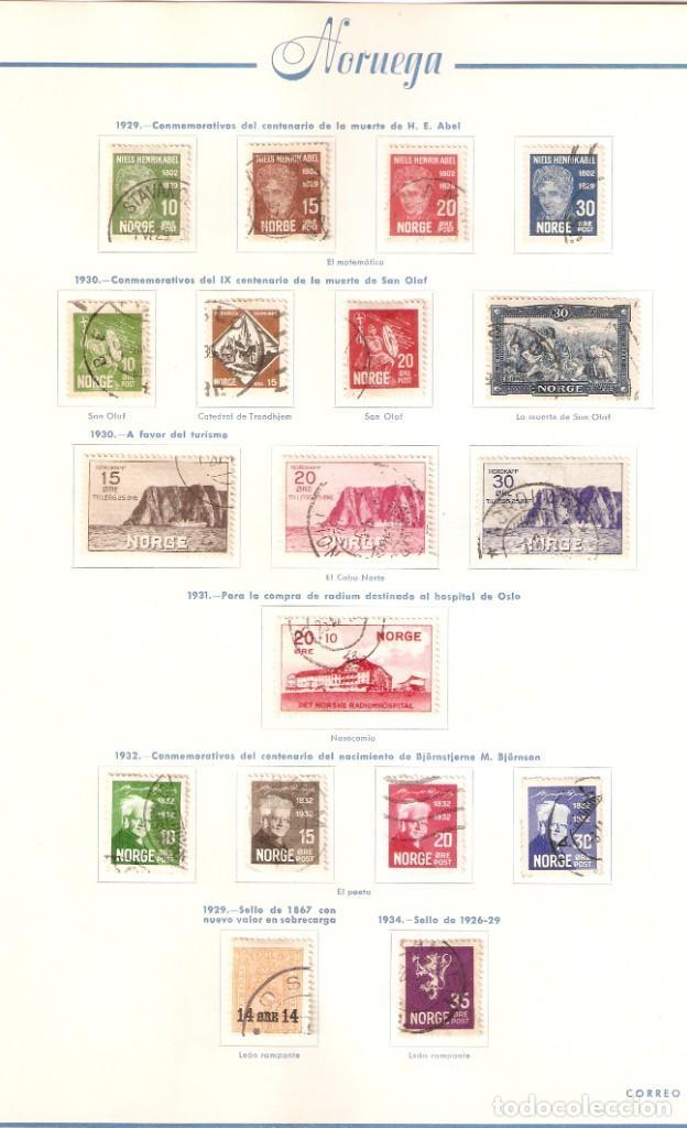 Sellos: NORUEGA. COLECCIÓN AÑOS 1855 A 1980. USADO. valor con catálogo del 2001.. 4140€ - Foto 6 - 215760703