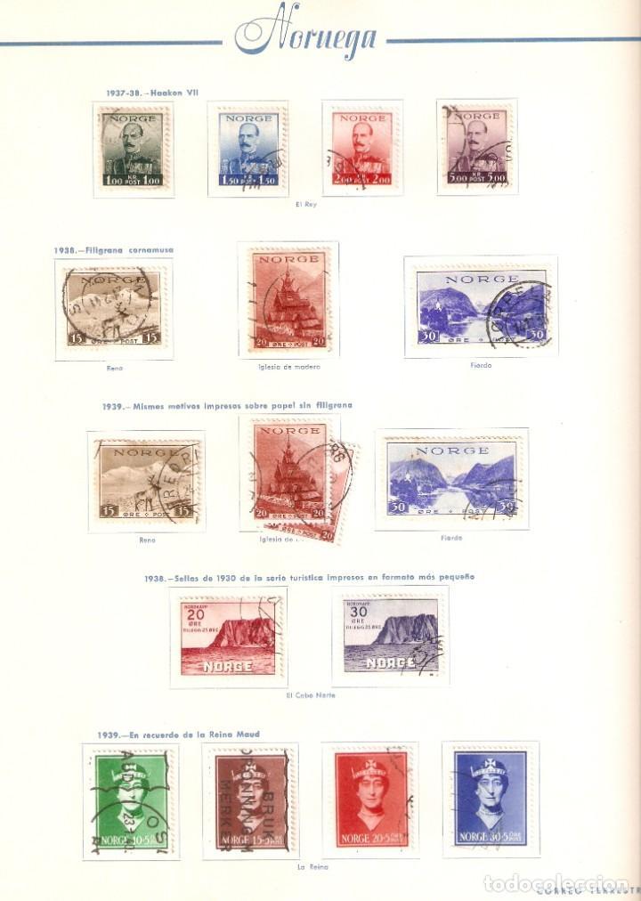 Sellos: NORUEGA. COLECCIÓN AÑOS 1855 A 1980. USADO. valor con catálogo del 2001.. 4140€ - Foto 8 - 215760703