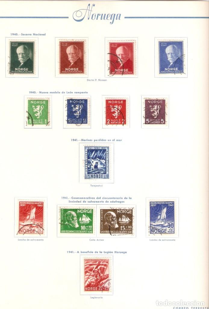 Sellos: NORUEGA. COLECCIÓN AÑOS 1855 A 1980. USADO. valor con catálogo del 2001.. 4140€ - Foto 9 - 215760703