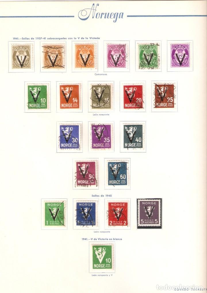 Sellos: NORUEGA. COLECCIÓN AÑOS 1855 A 1980. USADO. valor con catálogo del 2001.. 4140€ - Foto 11 - 215760703