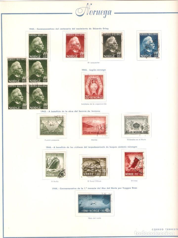 Sellos: NORUEGA. COLECCIÓN AÑOS 1855 A 1980. USADO. valor con catálogo del 2001.. 4140€ - Foto 13 - 215760703
