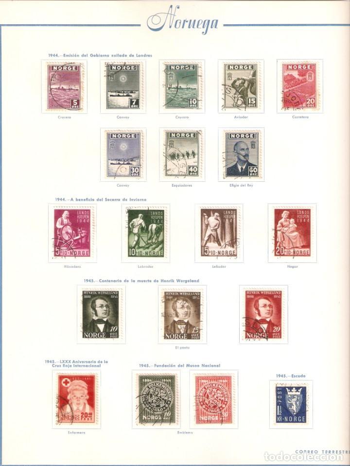 Sellos: NORUEGA. COLECCIÓN AÑOS 1855 A 1980. USADO. valor con catálogo del 2001.. 4140€ - Foto 14 - 215760703