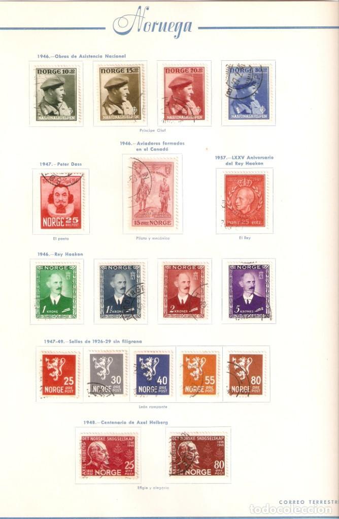 Sellos: NORUEGA. COLECCIÓN AÑOS 1855 A 1980. USADO. valor con catálogo del 2001.. 4140€ - Foto 15 - 215760703