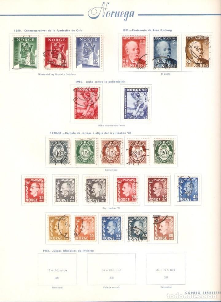 Sellos: NORUEGA. COLECCIÓN AÑOS 1855 A 1980. USADO. valor con catálogo del 2001.. 4140€ - Foto 17 - 215760703