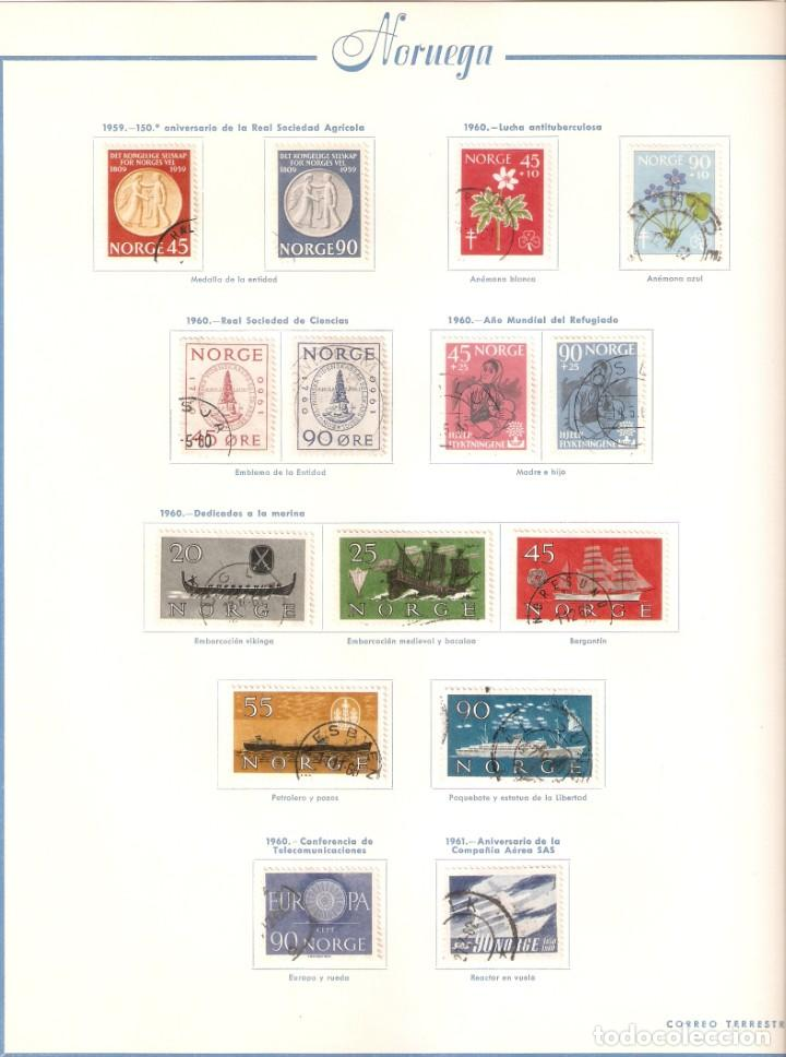 Sellos: NORUEGA. COLECCIÓN AÑOS 1855 A 1980. USADO. valor con catálogo del 2001.. 4140€ - Foto 21 - 215760703