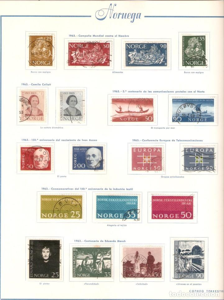 Sellos: NORUEGA. COLECCIÓN AÑOS 1855 A 1980. USADO. valor con catálogo del 2001.. 4140€ - Foto 24 - 215760703