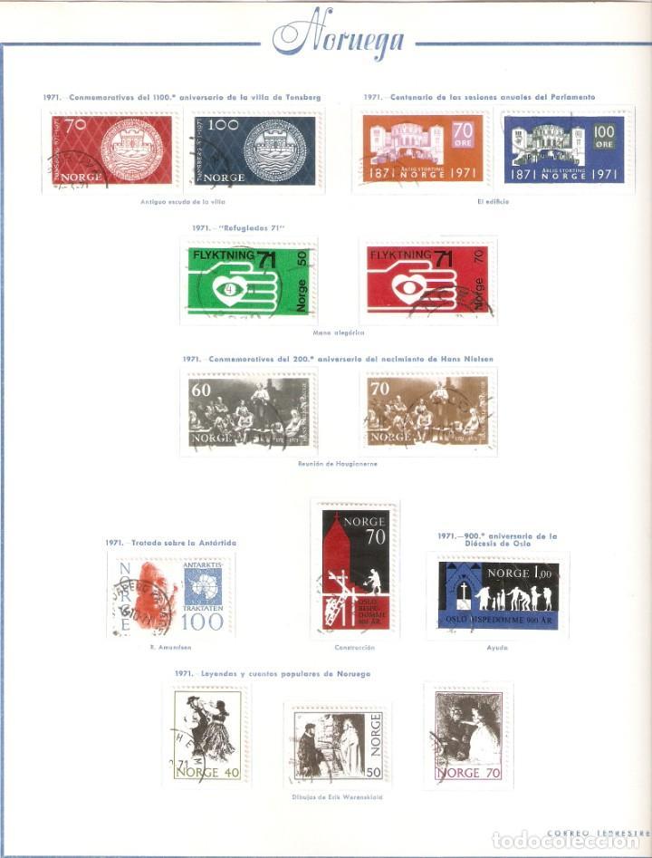Sellos: NORUEGA. COLECCIÓN AÑOS 1855 A 1980. USADO. valor con catálogo del 2001.. 4140€ - Foto 30 - 215760703