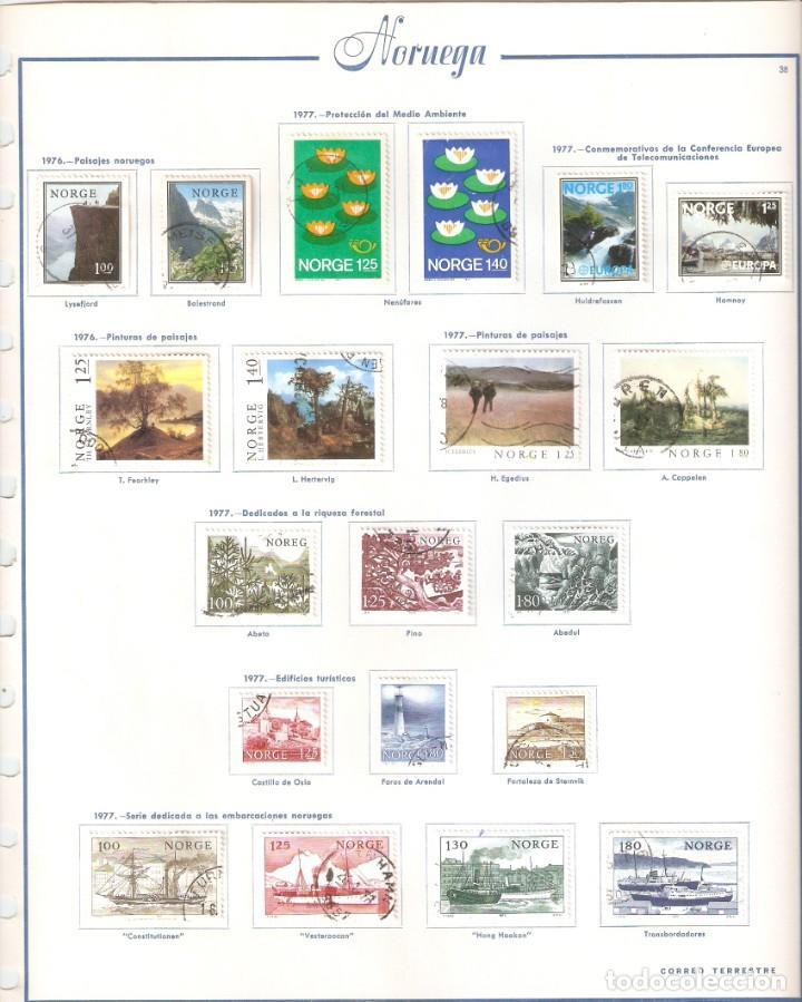 Sellos: NORUEGA. COLECCIÓN AÑOS 1855 A 1980. USADO. valor con catálogo del 2001.. 4140€ - Foto 36 - 215760703