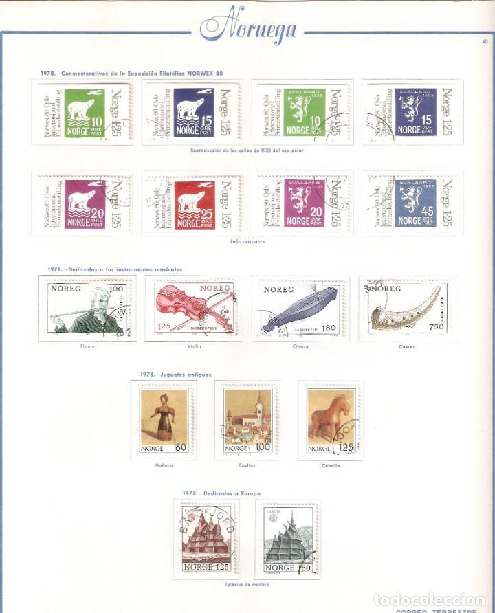 Sellos: NORUEGA. COLECCIÓN AÑOS 1855 A 1980. USADO. valor con catálogo del 2001.. 4140€ - Foto 38 - 215760703