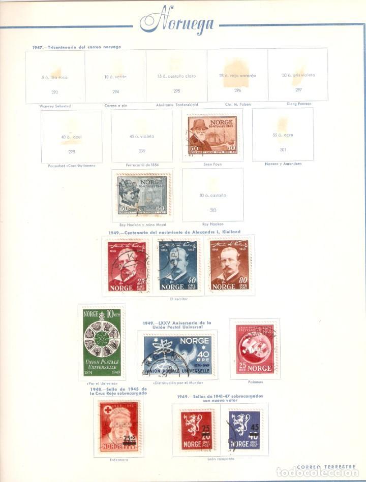 Sellos: NORUEGA. COLECCIÓN AÑOS 1855 A 1980. USADO. valor con catálogo del 2001.. 4140€ - Foto 16 - 215760703