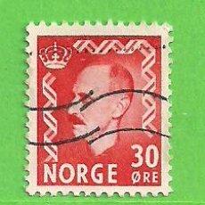 Sellos: NORUEGA - MICHEL 361 - YVERT 326A (326) - REY HAAKON VII. (1951).. Lote 218013702