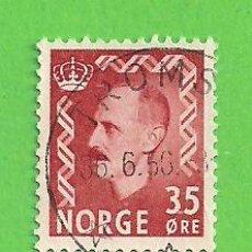 Sellos: NORUEGA - MICHEL 397 - YVERT 362 - REY HAAKON VII. (1956).. Lote 218014006