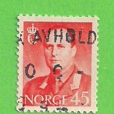 Sellos: NORUEGA - MICHEL 421 - YVERT 383 - REY OLAV V. (1958).. Lote 218014235