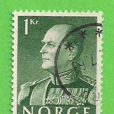 Sellos: NORUEGA - MICHEL 428Y - YVERT 551 - REY OLAV V. (1969).. Lote 218014482