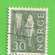 Sellos: NORUEGA - MICHEL 524XA - YVERT 440A (404) - PINTURA RUPESTRE. (1964).. Lote 218015342
