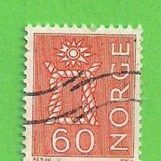 Sellos: NORUEGA - MICHEL 525X - YVERT 445A (445) - NUDO MARINERO. (1964).. Lote 218015726