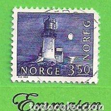 Sellos: NORUEGA - MICHEL 877 - YVERT 833 - FARO DE LINDESNES. (1983).. Lote 218019287