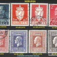 Sellos: NORUEGA 1959 A 1977 - LOTE VARIADO (VER IMAGEN) - 8 SELLOS USADOS. Lote 218246611